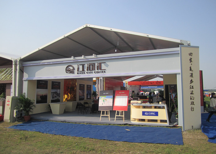 Beautiful German White Marquee Tent For Advertising Events / Commercial Activities