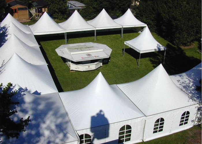 White Aluminum Frame Arabian Style Pagoda Party Tent With Transparent Windows
